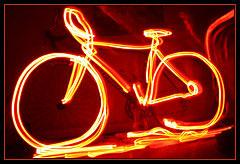 Bike in light